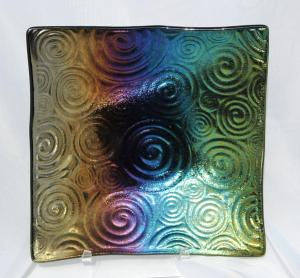 Black Dichroic Swirls