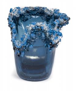 Blue Vase with Lace Edge