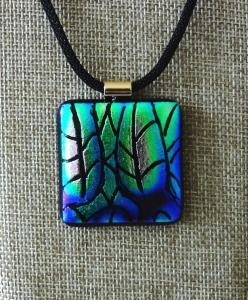 Etched TieDye - Greens and Blues with a hint of Pink