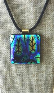 Etched TieDye - Blue, Green, Gold with a hint of Pink