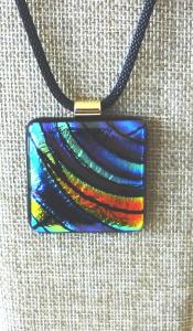 Etched TieDye - Blues, Turquoise & Orange