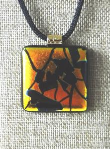 Etched TieDye - Yellow/Orange with Black