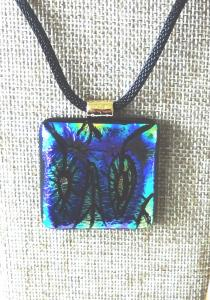 Etched TieDye - Blues, Turquoise & Yellow