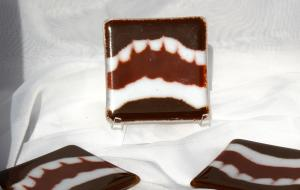 Brown  and White Coasters