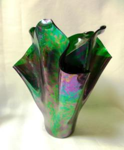 Iridized Black Vase