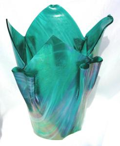 Green Iridized Vase